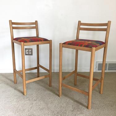 vintage mid century (2) Lowenstein chair bar stool seating pair by TripodModern