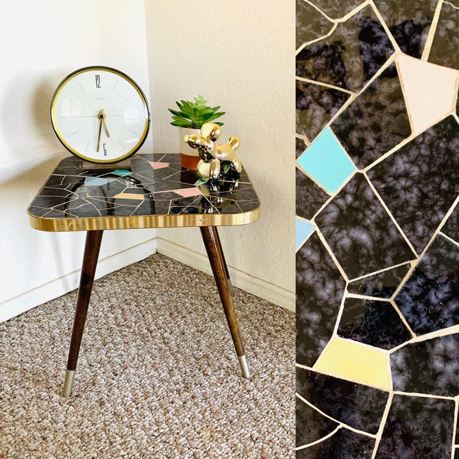 Mosaic Mid Century Side Table by dadacat