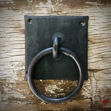 Hand Forged Iron Chest Handles / Bin Drawer Pulls