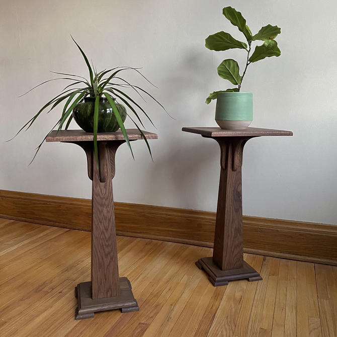 Pedestal Plant Stand, Hardwood—perfect for heavy pots! by BenNewmanFurniture