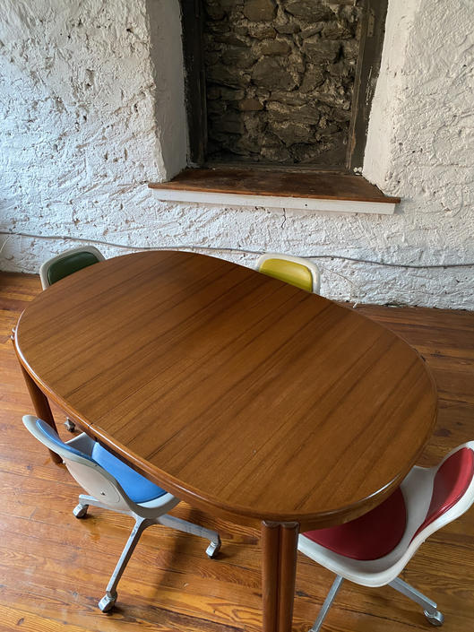 Mid century dining table Danish modern teak dining table mid century modern dining table by VintaDelphia