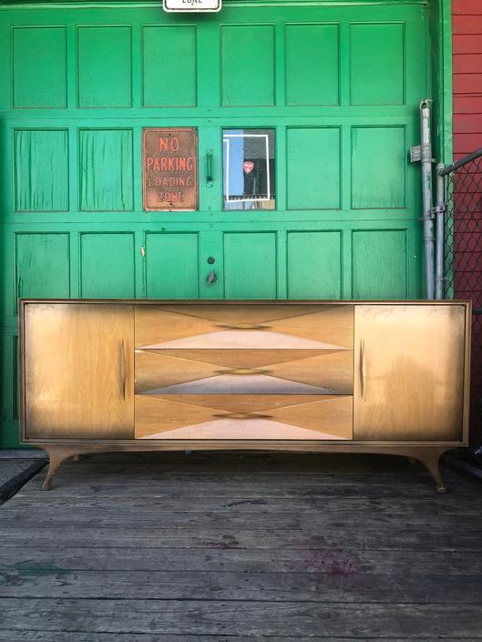 Mid Century Dania Lowboy Dresser