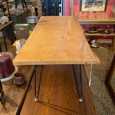 """Hairpin leg slab table. 45"" x18.5"" x 17.5"""