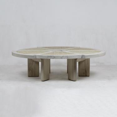 Rio Coffee Table Natural Oak & Rattan by ShopInteriorTonic