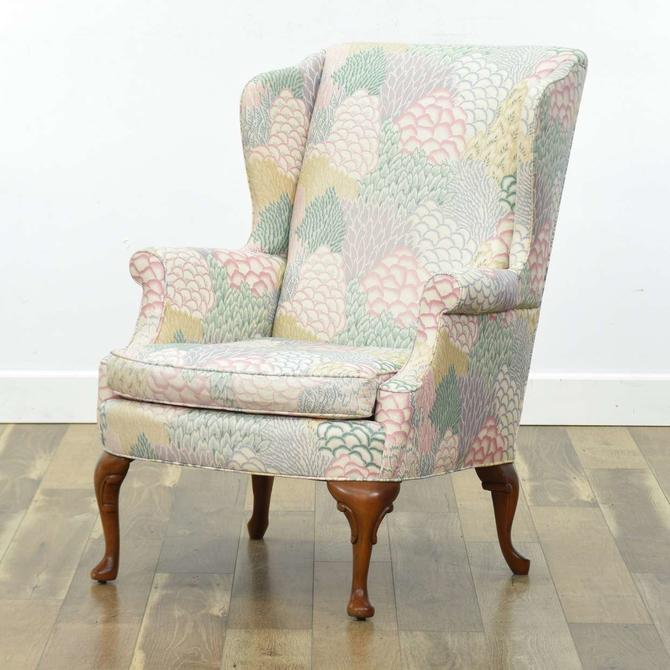Kindel Pastel Floral French Wingback Armchair