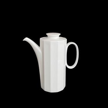 Vintage 1970s Modern Rosenthal Studio Linie Polygon 12 Sided Teapot Coffee Pot Tapio Wirkkala Design Germany by SwankyChaperooo