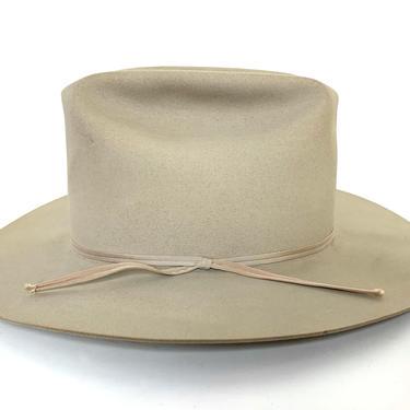 Vintage RESISTOL Western Fedora ~ size 7 1/8 ~ Cowboy Hat ~ Wide Brim ~ 7X Beaver Fur Felt by SparrowsAndWolves
