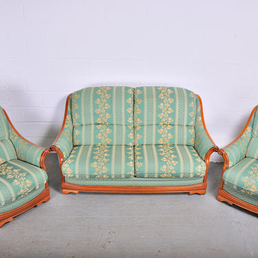 Vintage French Country Style 3-Pc Two Seater Sofa and Two Side Chairs by StandOutSpaces