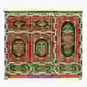 Chinese Tibetan Jewel Flower Graphic Tall Credenza StorageCabinet cs4914S