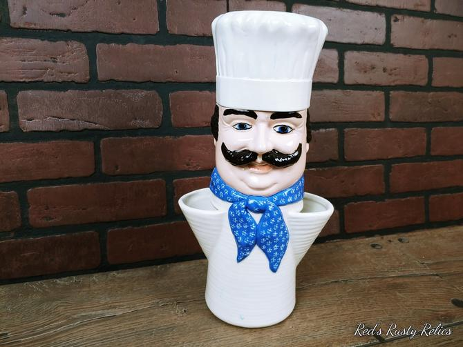 Sittre Ceramics Ceramic Spaghetti Chef Canister by RedsRustyRelics
