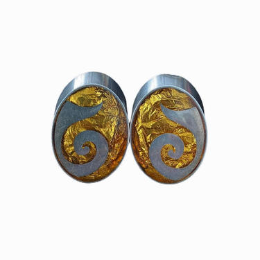 Sterling Oval Clip Earrings by InstantVintage78