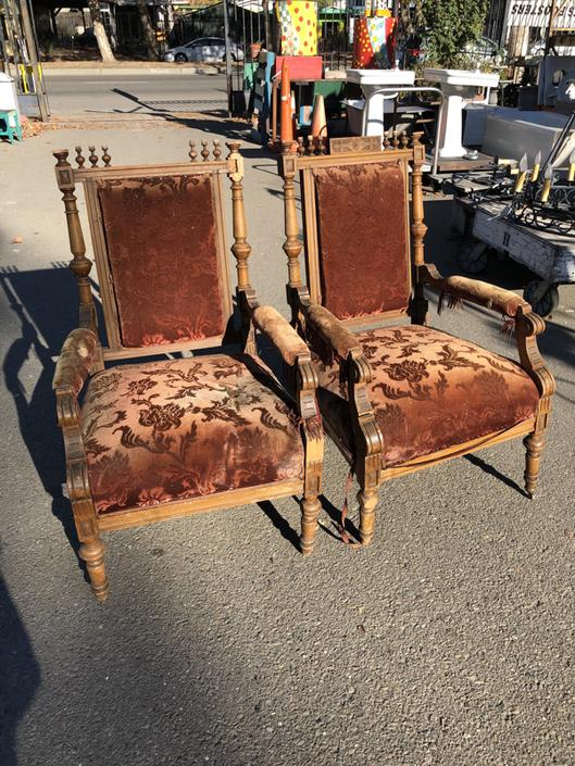 Pair of Victorian Chairs (AS IS)
