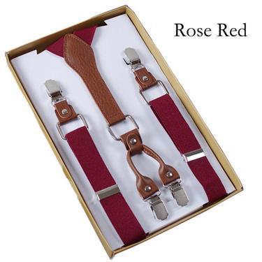 Men's Rose RedSuspender, Wedding, Gift, Party, Graduation, Boyfriend Gift, Dad Gift, Vintage, For Him,Retro Suspender friend by LookGreatWL