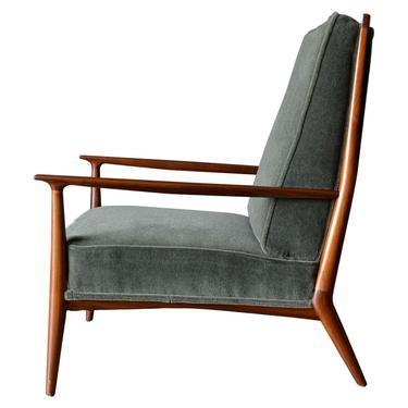 Paul McCobb for Directional Model 402 Walnut Frame Lounge Chair, ca. 1955