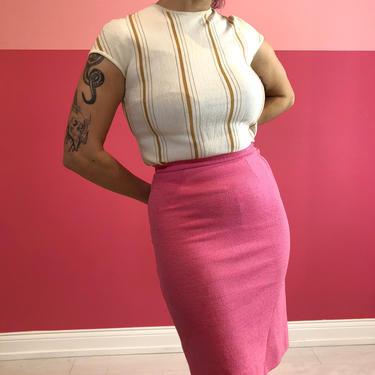 80s Barbie Pink Pencil Skirt by LostGirlsVtg