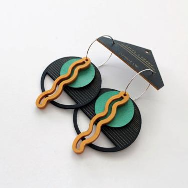 Layered Squiggle Earrings - Gold