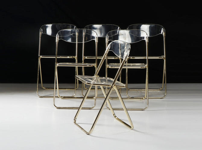 Brevettato Folding Chair Clear Lucite after Plia by Giancarlo Piretti by VintageInquisitor