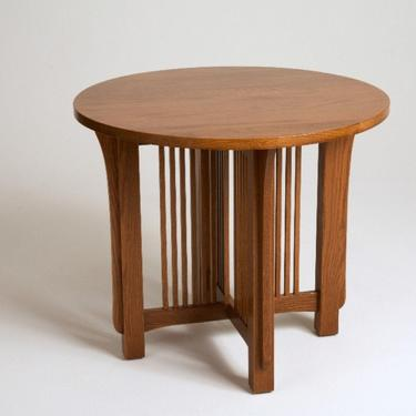 Mission Arts & Crafts Stickley style Round End Table by DaleMartinFurniture