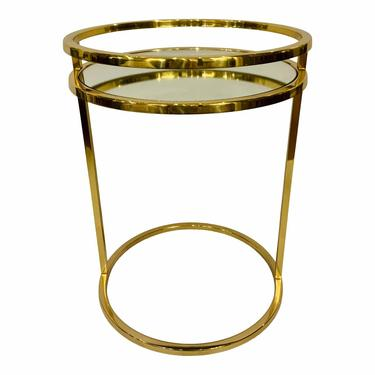 Global Views Modern Brass Finished Ring Side Table