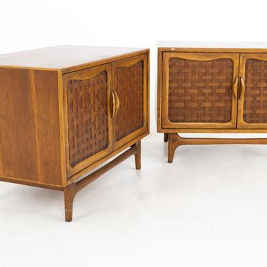 Lane Perception Mid Century Nightstands or Record Cabinets - A Pair - mcm by ModernHill