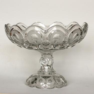 vintage L.E Smith moon and stars clear glass compote by suesuegonzalas