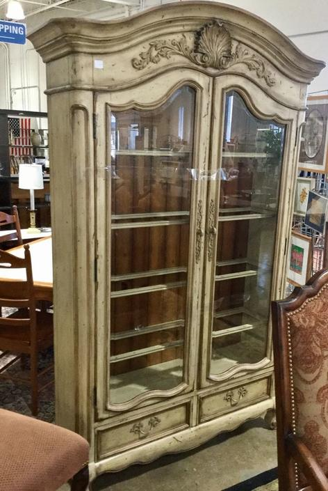 Large glass door China Cabinet available at Habitat for Humanity Restore Rockville for $695