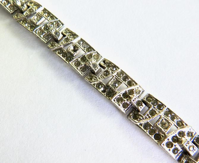 Art Deco Pot Metal Rhinestone Bracelet by LegendaryBeast