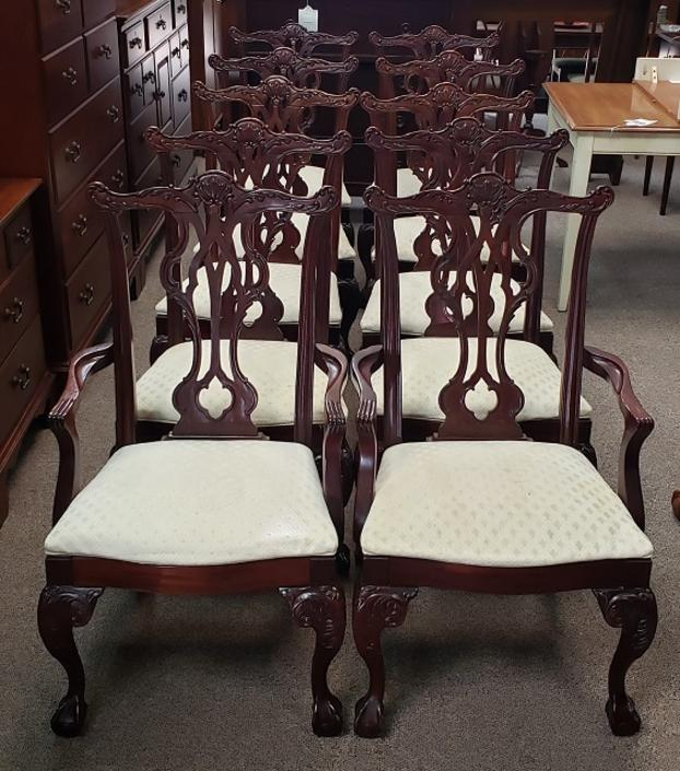Item #KS2 Set of Ten Contemporary Cherry Dining Chairs by Thomasville