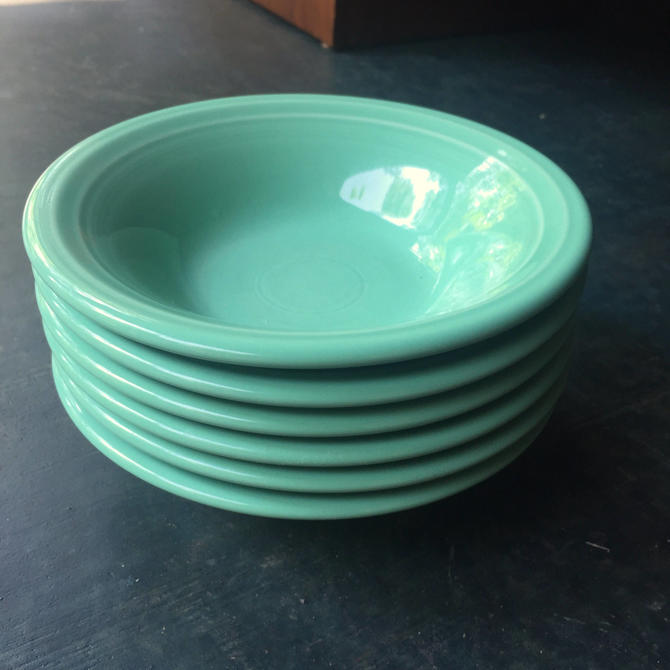 Fiestaware Sea Mist Bowls Fruit Retired Jade Green by BrainWashington