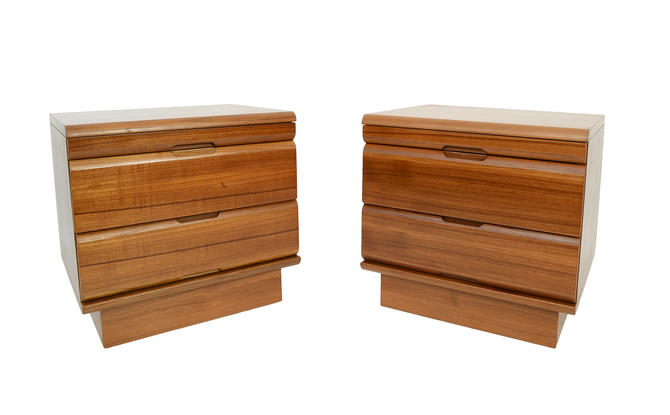 Teak Night Stands Pair of Nightstands Danish Modern by HearthsideHome