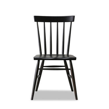Windsor Chair - Solid White Oak with Charcoal / Black dye - Available in other woods by HedgeHouse