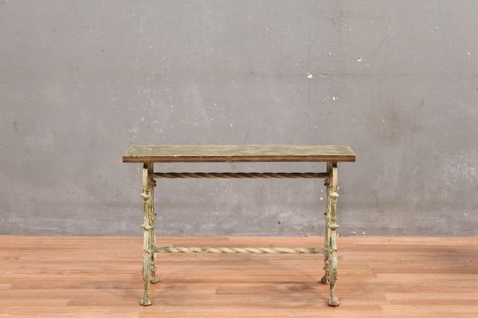 Shabby Petite Iron & Wood Bench