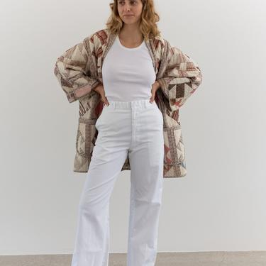 Vintage 29 Waist White Work Pant   High Rise Zipper Fly Cotton Trousers   Metal Tab Sailor Navy Pants   by RAWSONSTUDIO