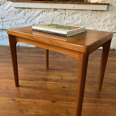Mid century end table Danish modern side table mid century teak table by VintaDelphia