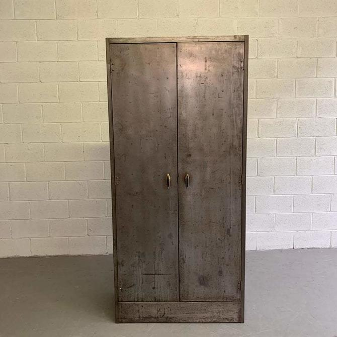 Industrial Brushed Steel Utility Cabinet