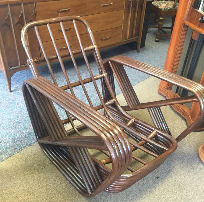 Paul Frankl Rattan Lounge Chair by AgentUpcycle