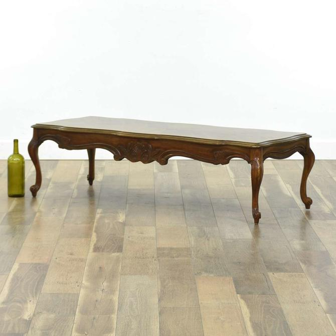Gordon'S French Provincial Coffee Table W Marquetry