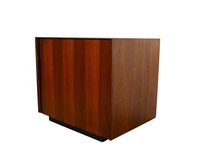 Glenn of California Walnut Bar Cabinet, Side Table, Nightstand John Kapel Mid Century Modern by HearthsideHome