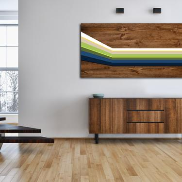 Mid Century Modern Art, Abstract Art, Wood Wall Art, Modern Geometric Painting, Wood Sculpture, Home Decor Minimalist Large Woodwork by LauraAshleyWoodArt