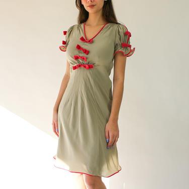 Vintage 90s Betsey Johnson Light Gray Silk & Pink Velvet Swing Dress   100% Silk   Peek-A-Boo Poof Shoulders   1990s Designer Romantic Dress by TheVault1969