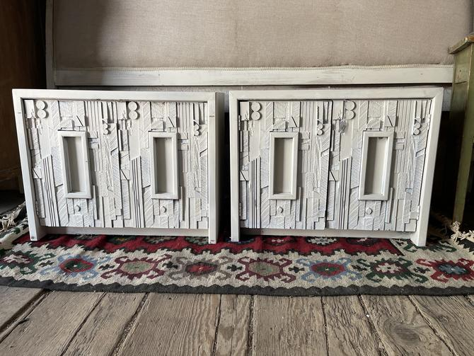 Painted White Side Tables/Cabinets