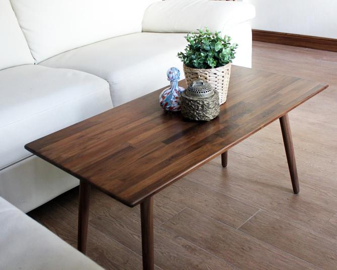 CUSTOM for Nayeli only - 42 inch  Walnut Coffee Table by portrhombus