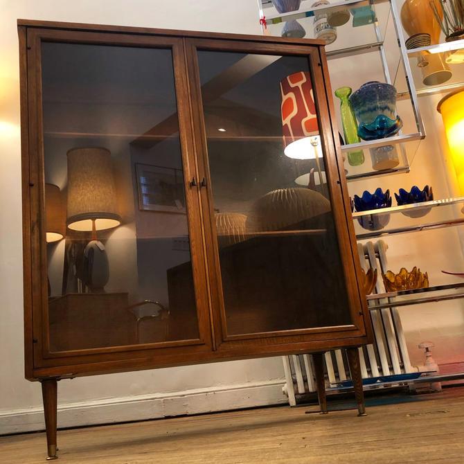 Mid-century Walnut Bookcase-cabinet