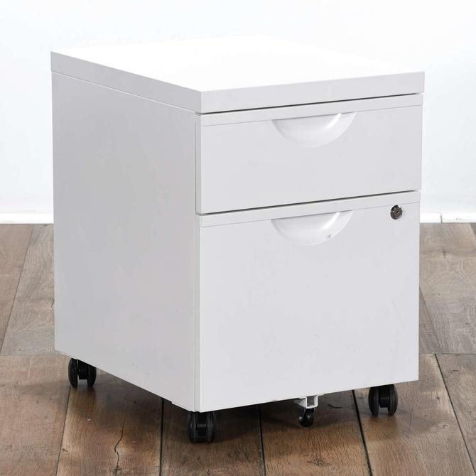 Small Metal White File Cabinet