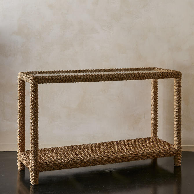Braided Rope Console Table, France