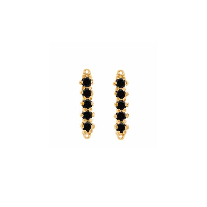 Barre Studs Black Spinel