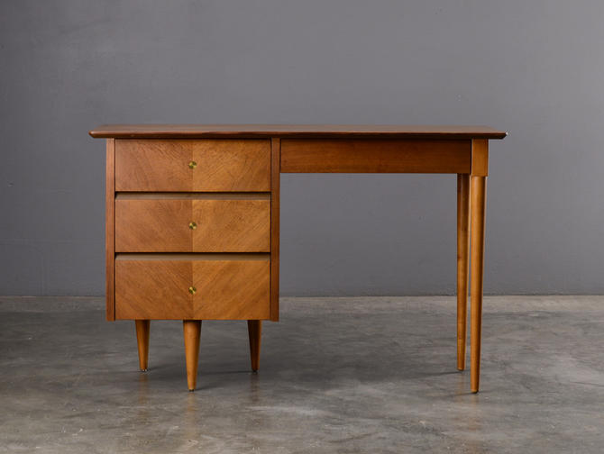 4ft Mid Century Modern Desk Walnut by MadsenModern