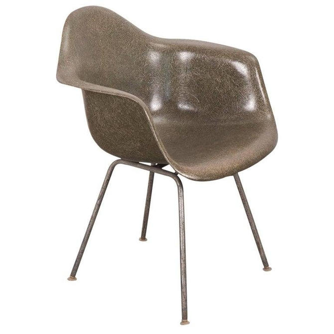 Eames Olive Green Armshell Chair by openairmodern