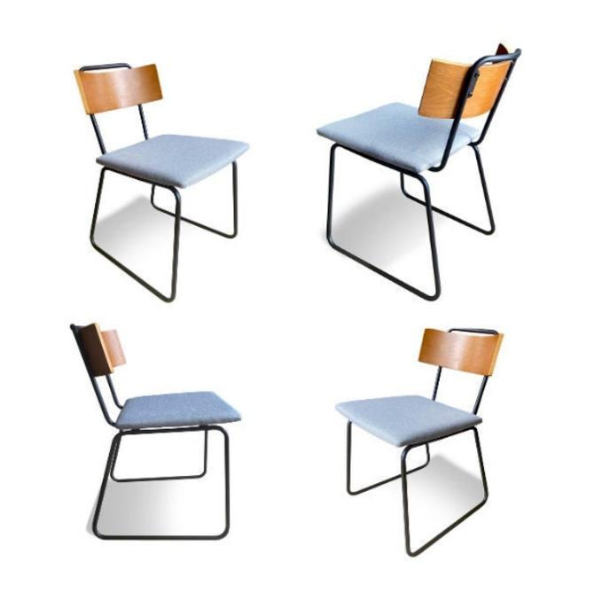 UMBUZÖ Modern Wood & Fabric Dining Chairs (Set of 4) by UmbuzoRustic