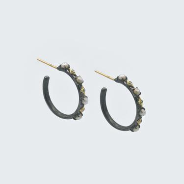 Crivelli Pearl Hoop Earrings